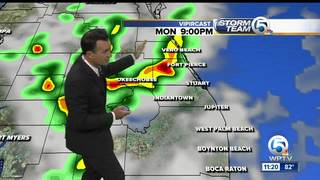 A few morning showers, afternoon t-storms