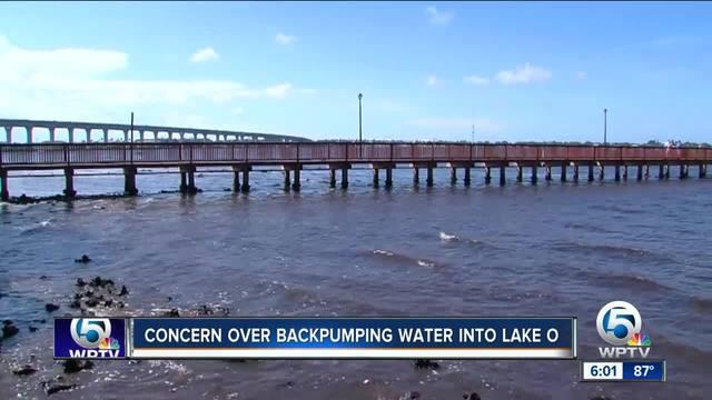 Concern over backpumping water into Lake Okeechobee
