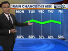 Muggy night, Increasing rain chances this week