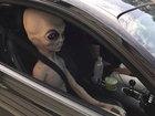 Speeding driver had alien doll passenger