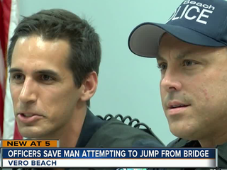 Vero Beach officers speak about saving man