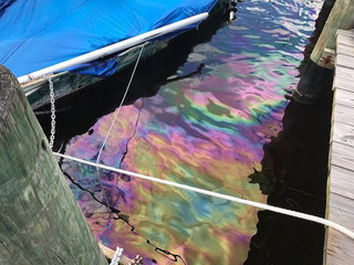 Abandoned sailboat found leaking diesel fuel