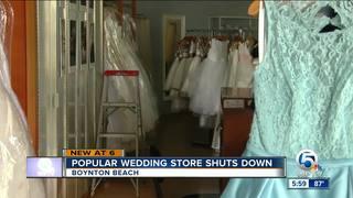 Bridal shop silent as customers demand dresses