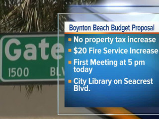 Budget talks begin in Boynton Beach