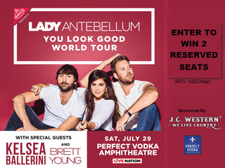Win Lady Antebellum tickets at Perfect Vodka