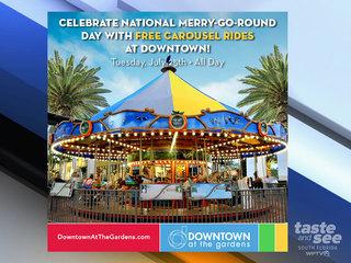 Free Merry-Go-Round rides in Palm Beach Gardens