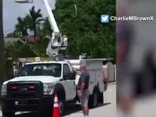 Retired So. FL firefighter shoots up AT&T trucks