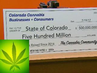 Legal pot in Colorado passes $500M in revenue