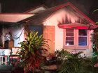 Overnight fire damages home in Fort Pierce