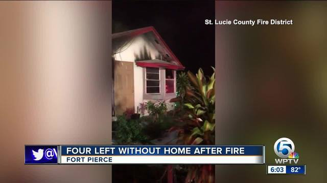 4 people displaced by Fort Pierce fire