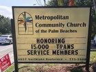 LGBTQ church protests military's transgender ban