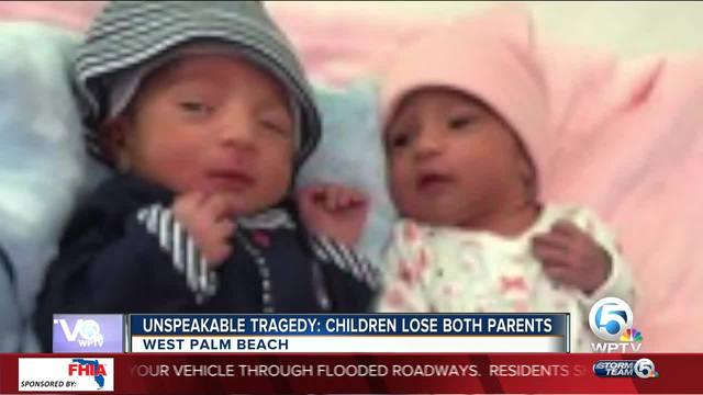 Twins' mom dies days after their birth and their dad slain