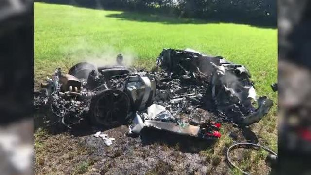 Ferrari totaled 1 hour after purchase