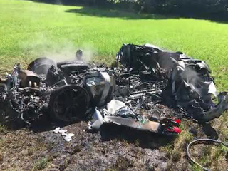 Ferrari totaled one hour after purchase