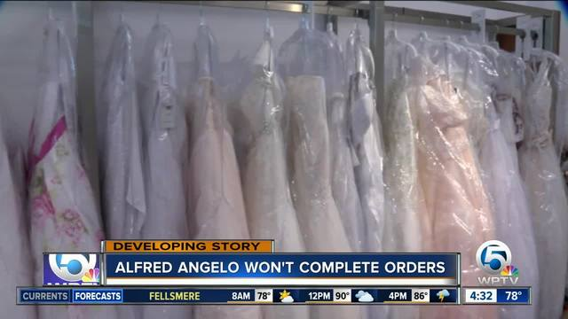 Alfred Angelo will not refund, process any more orders