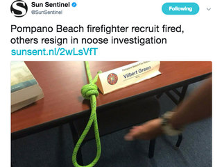 Fla. firefighter recruit fired after noose found