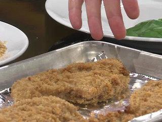 Crispy oven baked Mediterranean chicken breasts