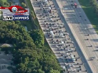 All lanes back open after I-95 SB crash