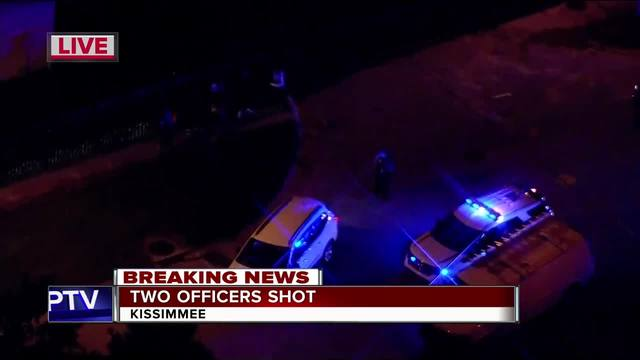 Kissimmee Police- Two officers shot