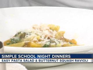 Pasta salad & butternut squash ravioli (8/23/17)