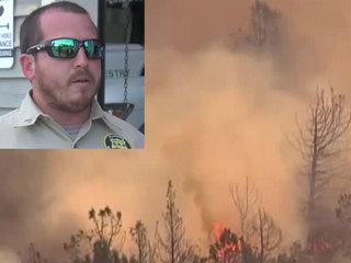 Florida firefighter battles wildfires in Oregon