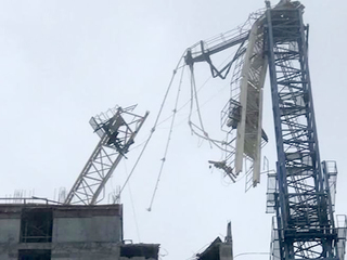 Irma's winds damage 3 cranes in South Florida
