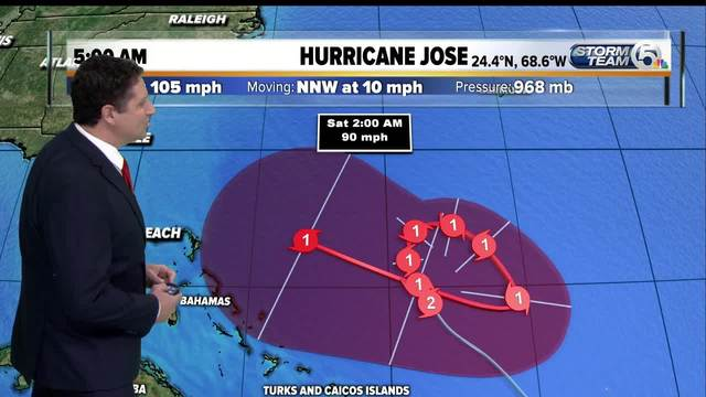 The future path of Hurricane Jose remains uncertain
