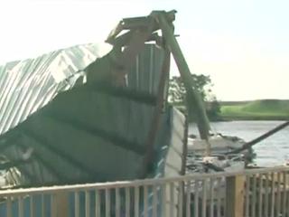 Marina damage at Taylor Creek Resort