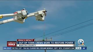 Out-of-state linemen helping FPL restore power