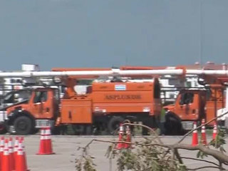 Power crews use FAU as staging ground
