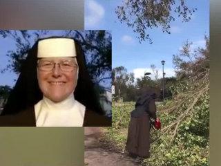 Miami nun with chainsaw helps cleanup after Irma