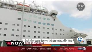 Cruise ship feeds, houses hurricane victims