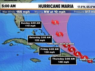 Category 4 Maria makes landfall in Puerto Rico