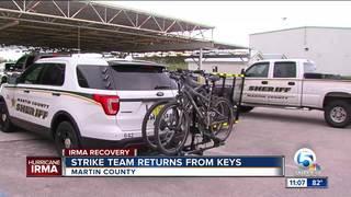 Martin deputies return from keys following Irma