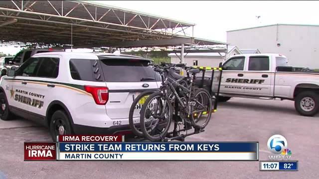 Martin County strike team returns from the Keys