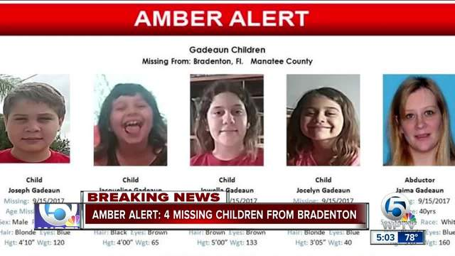 Amber Alert issued for 4 Florida children