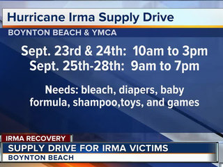 Boynton Beach collects items for Irma victims