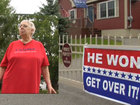 Woman rather go to jail than remove Trump signs