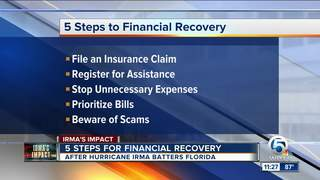 5 steps to financially recover from Irma