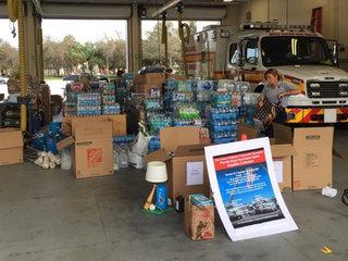 Boca firefighters delivering supplies to FL Keys