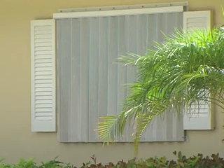 Take down hurricane shutters as soon as possible