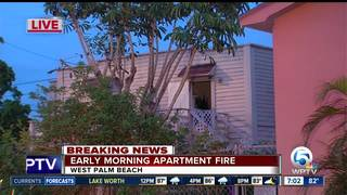 Apartment fire displaces family of 5