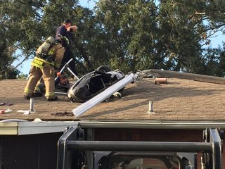 Fla. man crashes homemade helicopter into house
