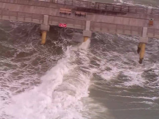 Lake Worth Pier closed due to high wave activity