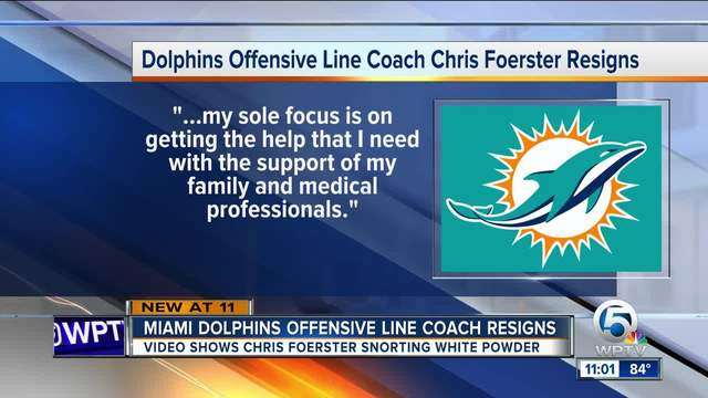 Miami Dolphins coach resigns after video of him allegedly snorting white…