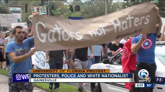 Protests as white nationalist speaks on campus