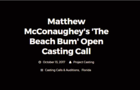 Open casting call for Matthew McConaughey movie