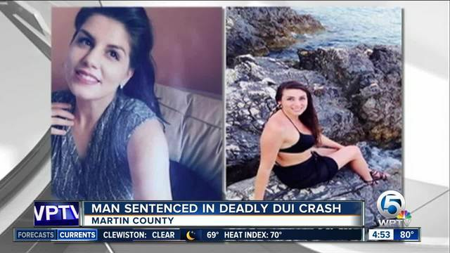Driver sentenced in DUI crash that killed 2 sisters in Martin County