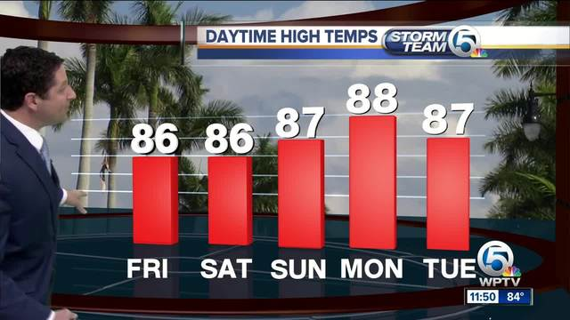South Florida Friday afternoon forecast -10-20-17-