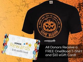 Donate blood, get a $10 eGift Card